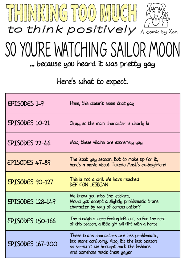 so you're watching sailor moon